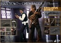 Star Wars Movie Masterpiece Actionfiguren Doppelpack 1/6 Han Solo & Chewbacca